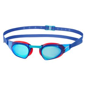 speedo Fastskin Prime Mirror - Lunettes de natation - rouge/bleu